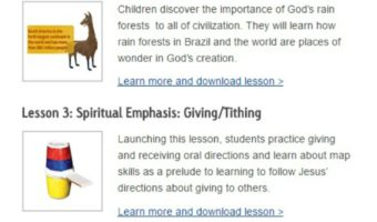 Free Christian Homeschool Lesson Plans from Compassion International